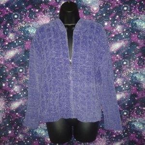 Kensie Purple Lilac Glitter Shimmer Jacket